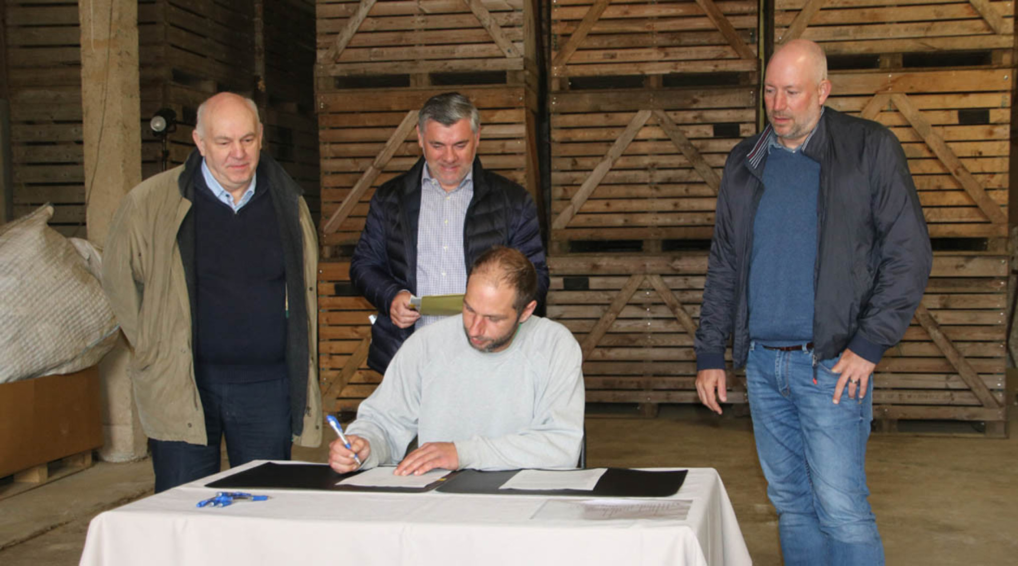 ondertekening keten biobaktarwe Colruyt